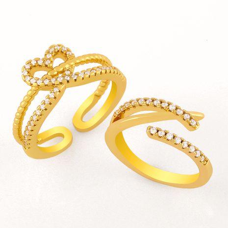 nouvelle bague d'amour ouverte en diamant creux NHAS277234's discount tags