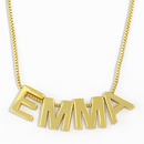 glossy 26 English letter pendant necklace NHAS277237