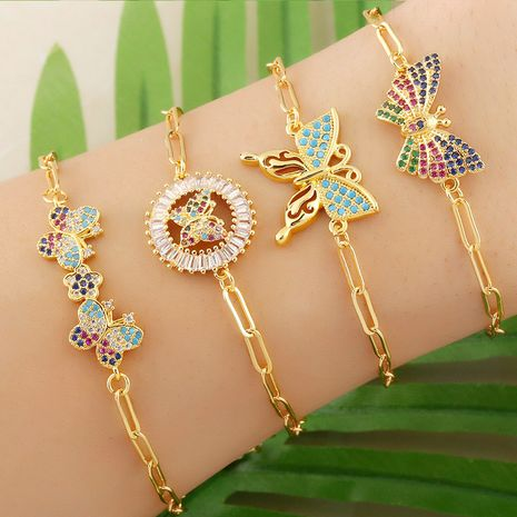 bracelet zircon micro-incrusté simple papillon NHAS277240's discount tags