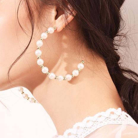 geometric pearl C-shaped earrings  NHMD277248's discount tags