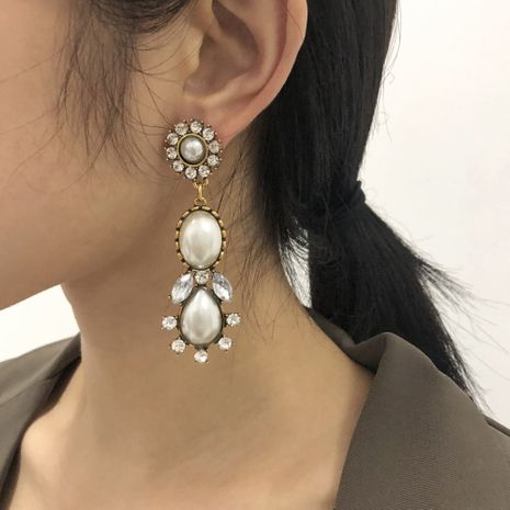 hit color diamond retro earrings NHMD277251's discount tags