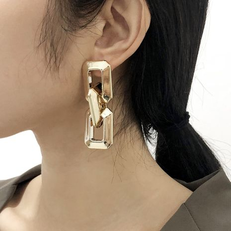 geometric square earrings NHMD277258's discount tags