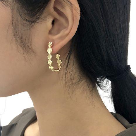 U-shaped wave pattern high-end earrings  NHMD277262's discount tags