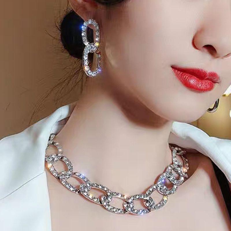 diamonds geometric earrings NHMD277267