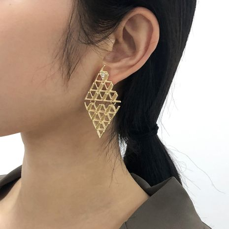 geometric mesh diagonal diamond earrings NHMD277270's discount tags