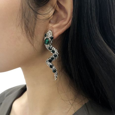 exaggerated retro high-end serpentine fashion earrings NHMD277283's discount tags