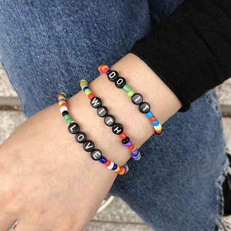 hot sale rice beads letter bracelet  NHMD277284's discount tags