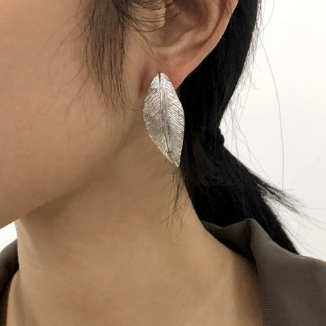 geometric creative leaf earrings NHMD277286's discount tags