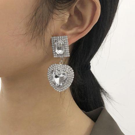 retro heart full diamond earrings NHMD277287's discount tags