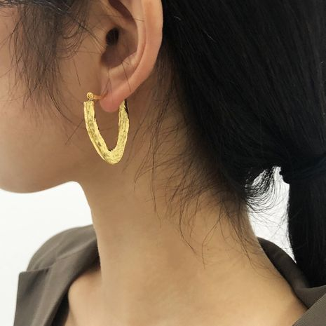 exaggerated U-shaped retro metal simple earrings NHMD277294's discount tags