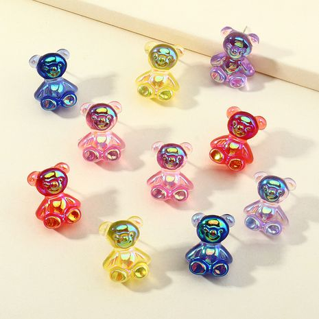 cute colorful bear earrings  NHNZ277295's discount tags