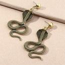 retro metal snakeshaped animal earrings  NHNZ277305