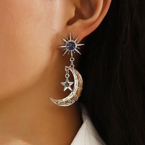 Creative Diamond Star Moon Earrings NHNZ277310's discount tags