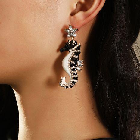 boucles d'oreilles en alliage acrylique hippocampe NHNZ277315's discount tags