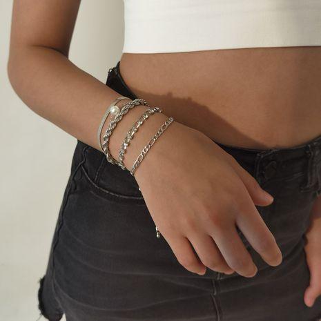retro creative multilayer diamond bracelet set  NHXR277331's discount tags