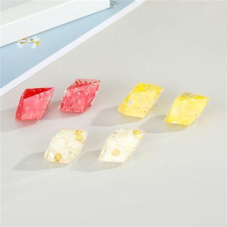 Boucles d'oreilles de fleurs séchées simples en forme de diamant NHGO277346's discount tags