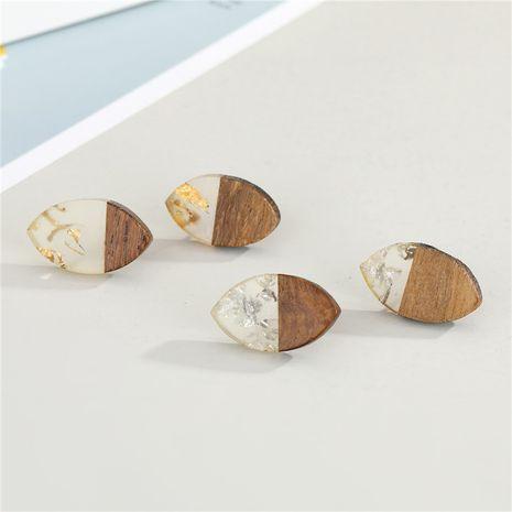 Korean resin wood transparent earrings  NHGO277358's discount tags