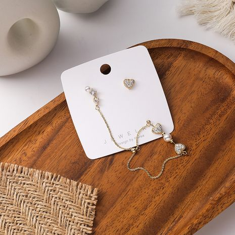 Boucles d'oreilles coréennes en forme de coeur en argent 925 NHMS277414's discount tags