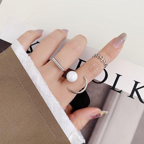 Korean  three-piece pearl  ring  NHMS277462's discount tags