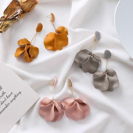 Boucles d'oreilles longues vintage en forme de pétale acrylique en argent 925 NHXI277505's discount tags