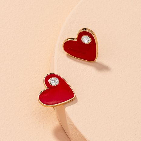 cute heart-shaped earrings  NHAI277508's discount tags