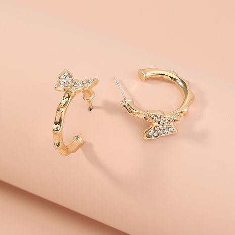 boucles d'oreilles papillon concaves sertis de diamants NHAN277532's discount tags