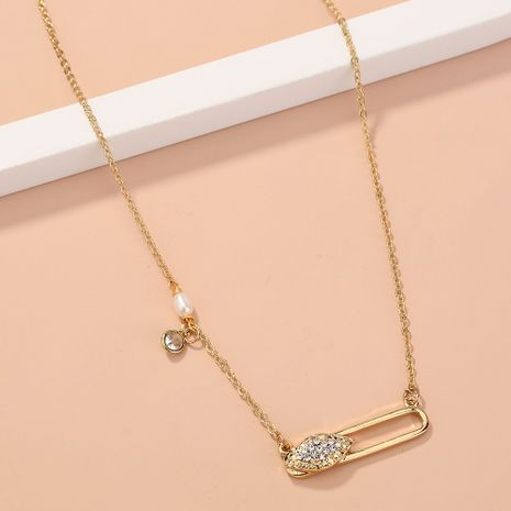 diamond-studded zircon moon necklace  NHAN277536's discount tags
