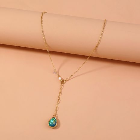 hot-selling personality irregular golden shaped  necklace NHAN277540's discount tags