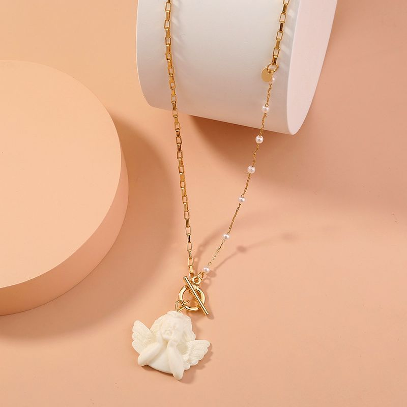 hot-selling asymmetric chain OT buckle necklace  NHAN277523