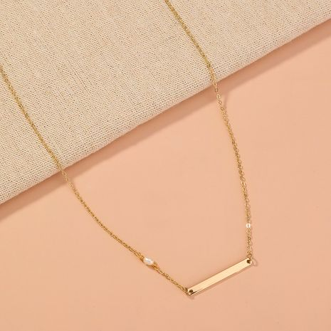 simple  freshwater pearl metal geometric  necklace  NHAN277545's discount tags