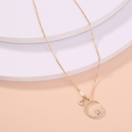Korea  new diamond star moon  simple wild  necklace  NHAN277547's discount tags