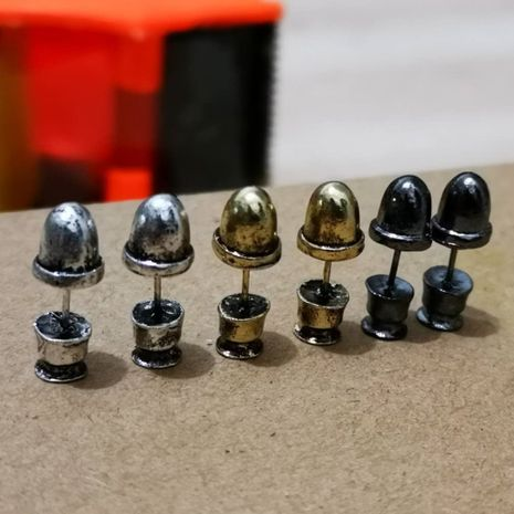 retro bullet earrings  NHMO277566's discount tags