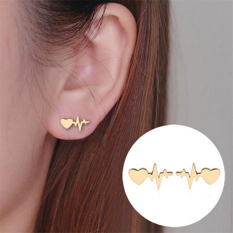 Boucles d'oreilles coeur pêche ECG NHMO277567's discount tags