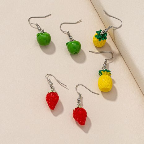 apple strawberry pineapple fruit earrings  NHGU277576's discount tags