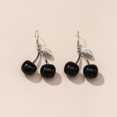 boucles d'oreilles cerises noires NHGU277575's discount tags