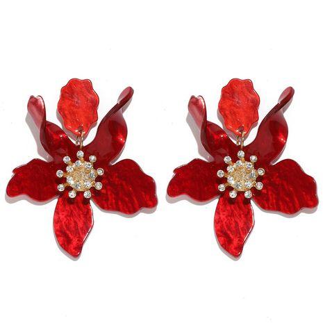 Boucles d'oreilles en résine acrylique en forme de pétale de rendu exagéré simple de mode NHQC277614's discount tags