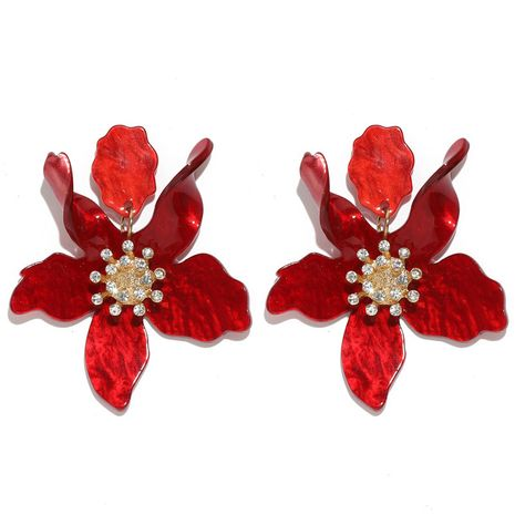fashion simple exaggerated rendering petal-shaped acrylic resin earrings NHQC277614's discount tags