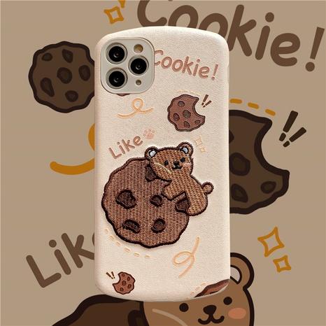 coque souple de coque de téléphone portable cookie bear de dessin animé pour 12mini 11Pro 8 7plus XR XS se2 NHFI285240's discount tags
