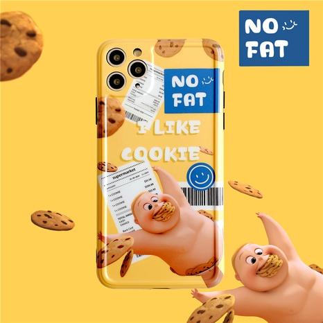 Coque de téléphone en silicone souple biscuit pour iPhone11pro max Apple XS XR se2 NHFI285252's discount tags