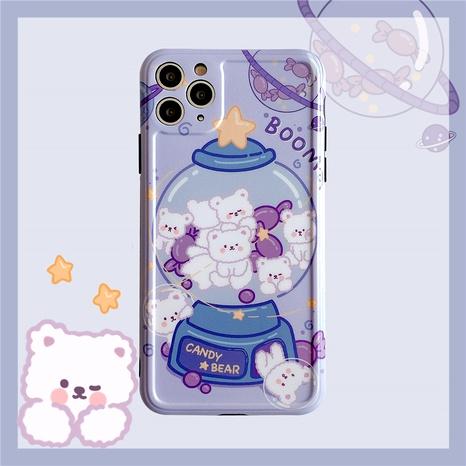 Coque de téléphone portable ours violet pour Apple 11Pro xsmax 8plus se2 XR NHFI285253's discount tags