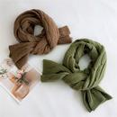 Long knitted wool scarf NHMN285271