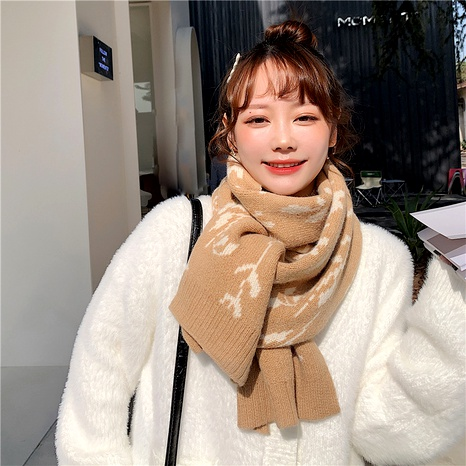 wool knitted fashionable warm scarf  NHCM285272's discount tags