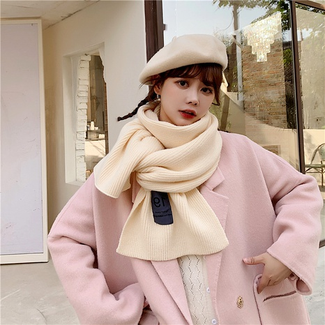 simple knitted wool scarf  NHCM285296's discount tags