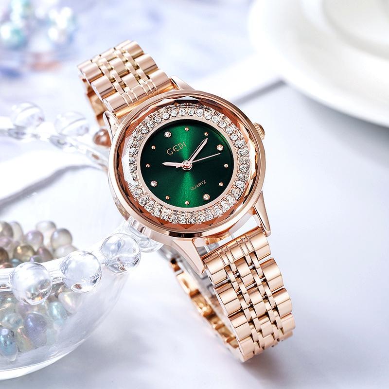 diamond steel band fashion casual waterproof watch  NHSR285304