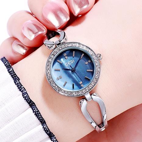 reloj de cuarzo impermeable de moda con diamantes NHSR285313's discount tags