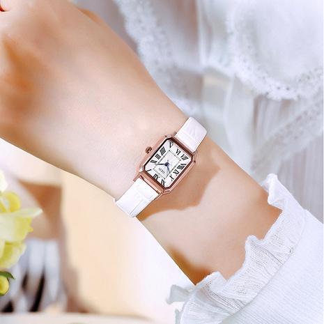 Reloj de cuarzo rectangular impermeable de moda NHSR285314's discount tags