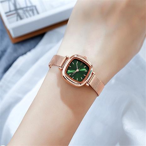 mesh belt fashion casual square quartz waterproof watch NHSR285316's discount tags