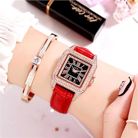 retro fashion square diamond waterproof quartz watch  NHSR285320's discount tags