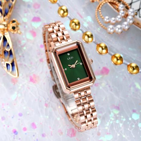 fashion rhinestone rectangular steel band waterproof quartz watch  NHSR285336's discount tags
