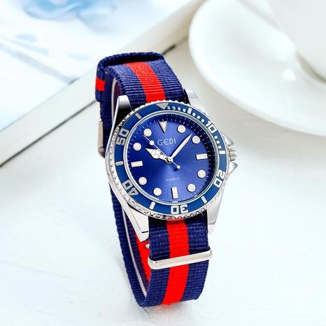 Reloj de cuarzo impermeable con cinturón de tela tejida a la moda NHSR285353's discount tags